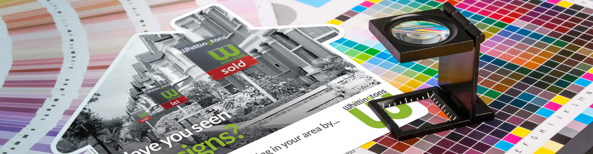 Printing estate agents leaflets and other popular marketing materials.