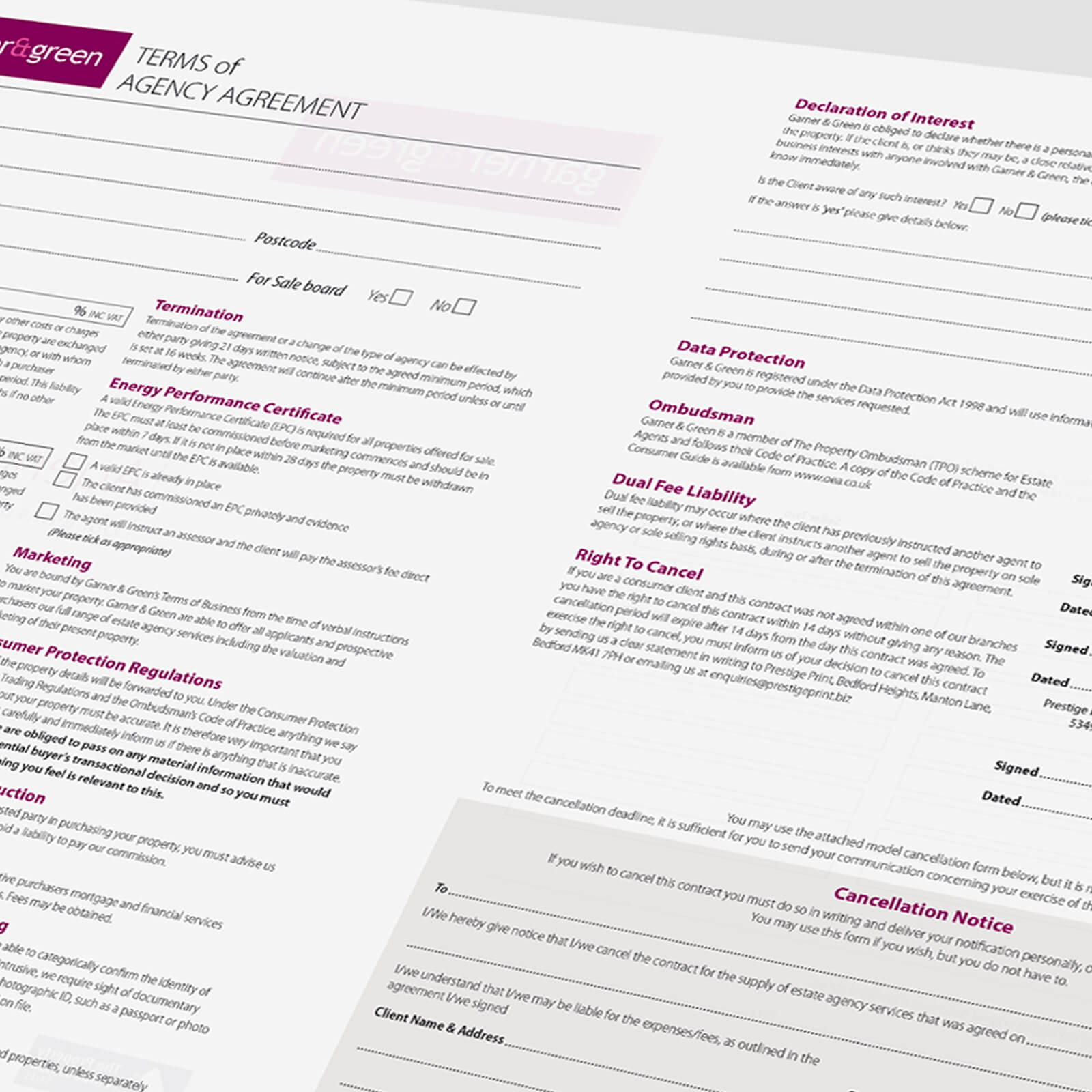 Estate Agents Agreement Template FeatureHead NCR Sales 02