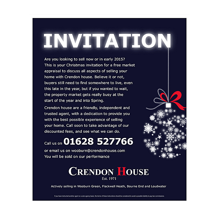 Estate agents christmas leaflet designs greetings cards template christmas invitation m4hsunfo