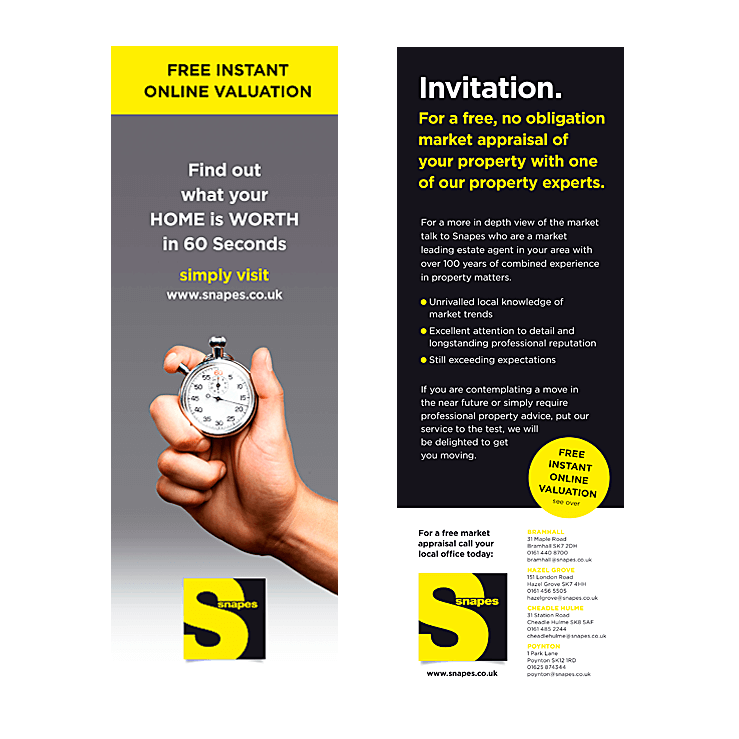 estate agency marketing leaflets flyers design