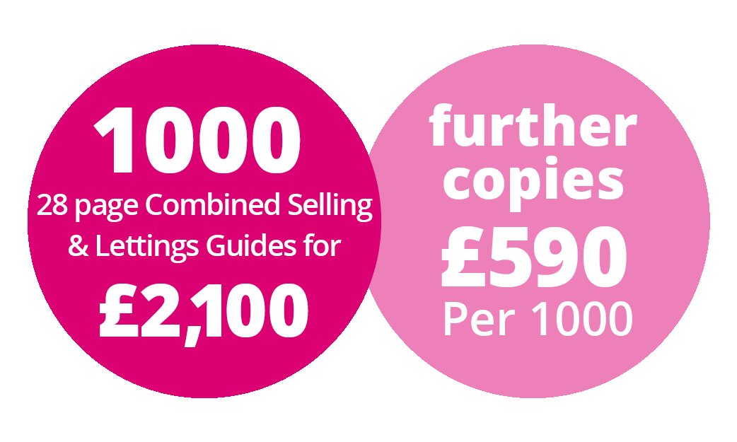 Estate agents 28 page combined sales and lettings brochure price bubble