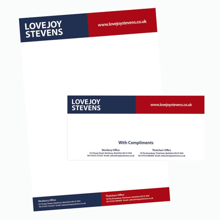 Estate Agent letterhead Lovejoy