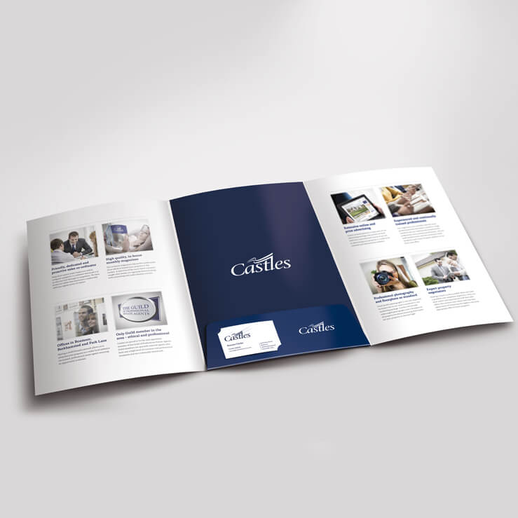 Estate agents 6 page folder Inner castles