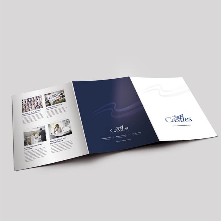 Estate agents 6 page folder outer castles