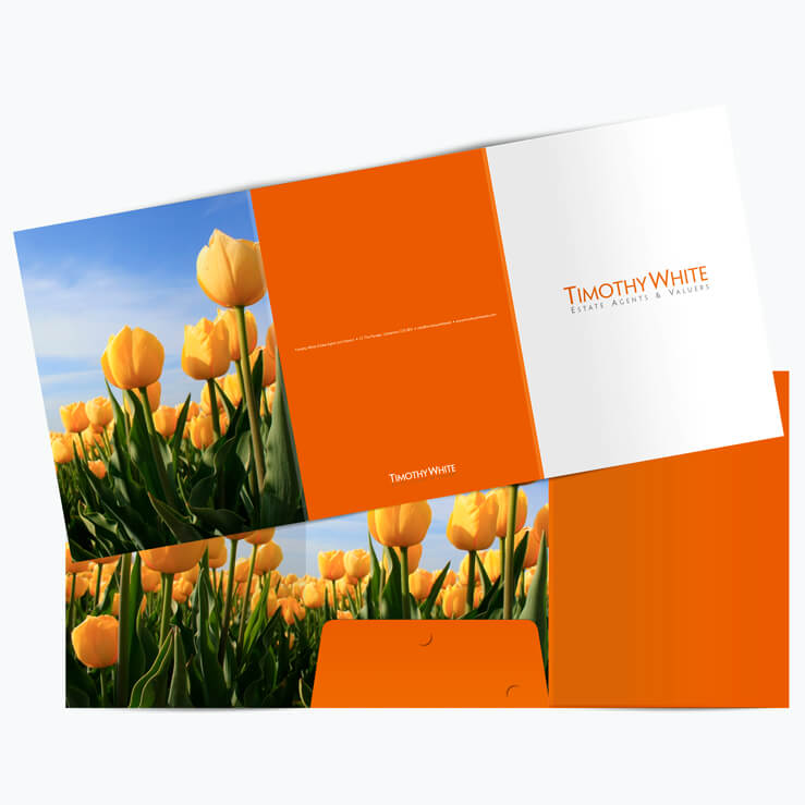 Estate agents 6 page folder Timwhite